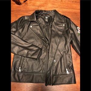 Miss Lili Women's Jacket Small Faux  Stud Lined